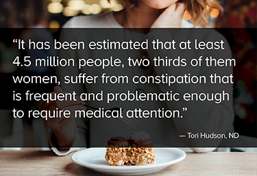 It has been estimated that at least 4.5 million people, two thirds of them women, suffer from constipation that is frequent and problematic enough to require medical attention.