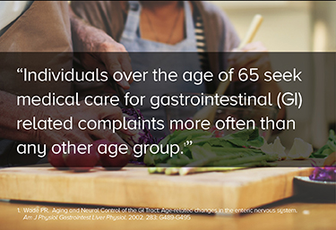 Individuals over the age of 65 seek medical care for gastrointestinal (GI) related complaints more often than any other age group.