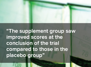 Those in the supplement group saw improved scores at the conclusion of the trial compared to those in the placebo group.