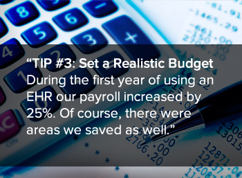 TIP #3: Set a Realistic Budget 