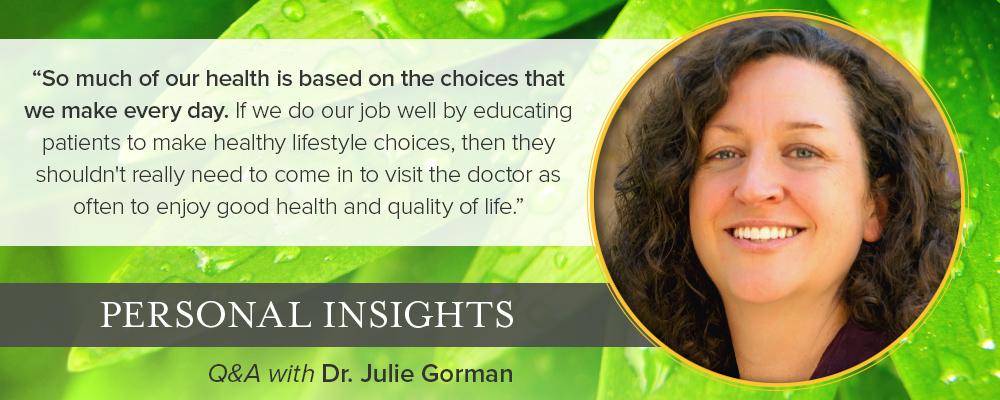 Personal Insights: Q&A with Dr. Julie Gorman