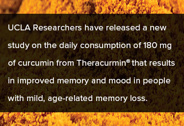 UCLA Researchers have released new study on daily consumption of 180 mg Theracurmin